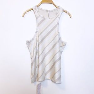 FREE PEOPLE | Ivory Striped Tank Top